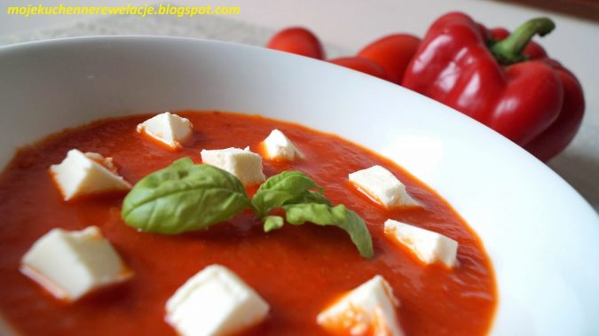 Zdjęcie Krem z pieczonych pomidorów i papryki