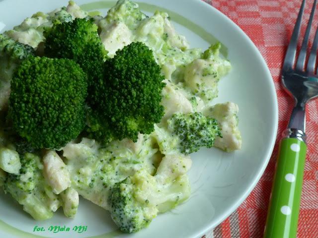 Zdjęcie Kurczak w sosie brokułowo-serowo-śmietanowym szybki obiad