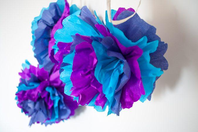 zdjęcie dekoracje urodzinowe DIY - pompon