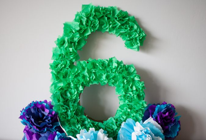 zdjęcie dekoracje urodzinowe DIY - urodzinowa cyfra