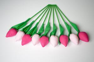 Tulipany ciemny i jasny róż