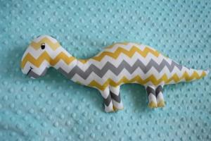 Dinozaur żółto-szary zygzak