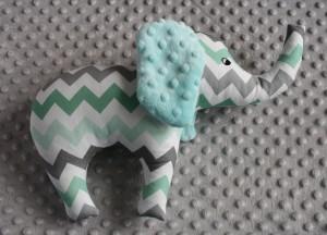 Słoń - miętowy zygzak