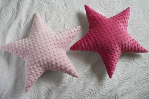 Gwiazdy dwustronne: jasny róż i minky Azalea Pink
