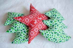 Choinki i gwiazda Boże Narodzenie