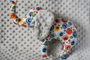 Słoń - wzór łowicz