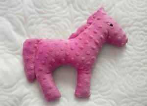 Koń różowe minky