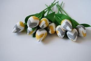 Tulipany żółto-szary zygzak